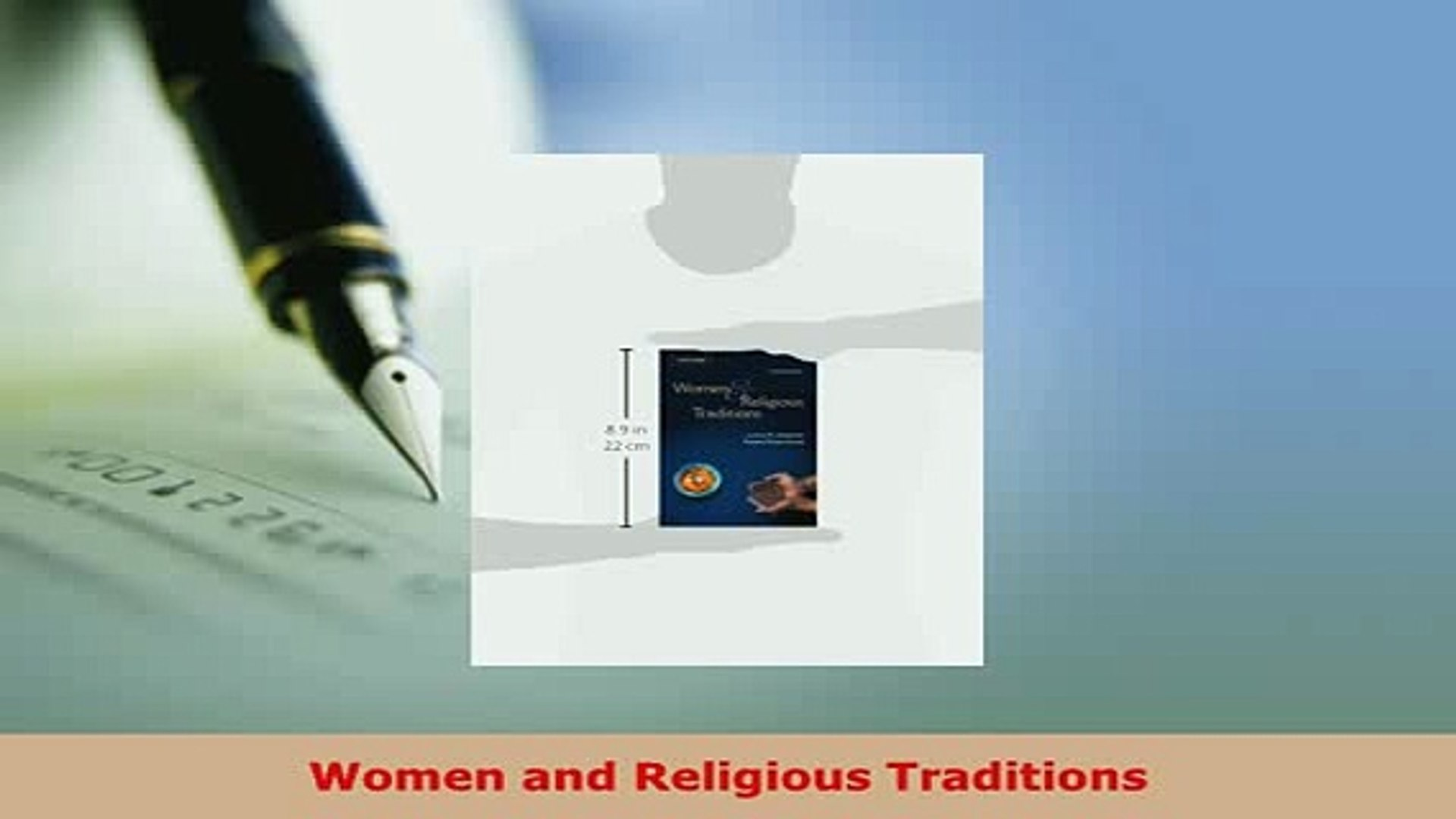 Download  Women and Religious Traditions  EBook