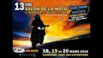 Stunt Christophe - Duke Acrobatie au Salon de la Moto de Narbonne le 19-03-2016
