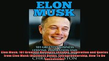 FAVORIT BOOK   Elon Musk 101 Greatest Business Lessons Inspiration and Quotes from Elon Musk Business  DOWNLOAD ONLINE