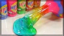 La vitamina+jalea monstruo arco iris líquido monstruo!! Fluye de arcilla líquida destruye la arcilla limos juguete DIY Cómo Hacer 'arco iris Limo' Kit de Juguetes | HD