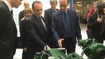 François Hollande visite l'usine MK Automotive