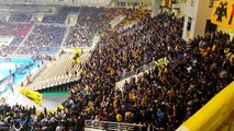 AEK vs Panathinaikos 16-2-15--Gate 21 singing against Panathinaikos 2015