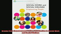 Free Full PDF Downlaod  BrooksCole Empowerment Series Introduction to Social Work and Social Welfare Full Free