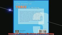 READ book  Thinking in Threes The Power of Three in Writing Full Free