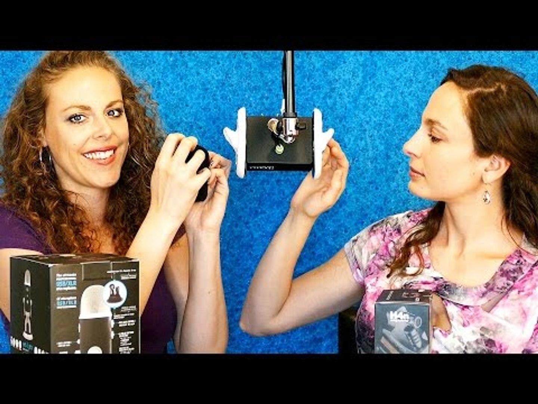 ASMR Binaural Whisper & Triggers: 2 Girls, 1 3Dio! Tapping, Ear Massage, Hair Brushing, Brushes