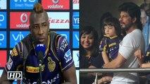 IPL9 KKR vs KXIP Andre Russel praises Shah Rukh Khan After Win