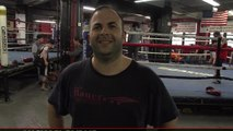 Eric Kelly trains with USA boxing