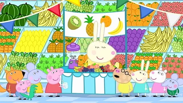 Peppa Pig. Fruit. Mummy Pig and Daddy Pig and George Pig