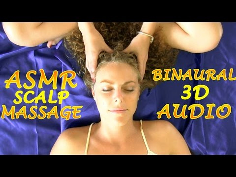 Binaural ASMR Face & Scalp Massage 3, Hair Play & Whisper Ear to Ear For Sleep & Relaxat