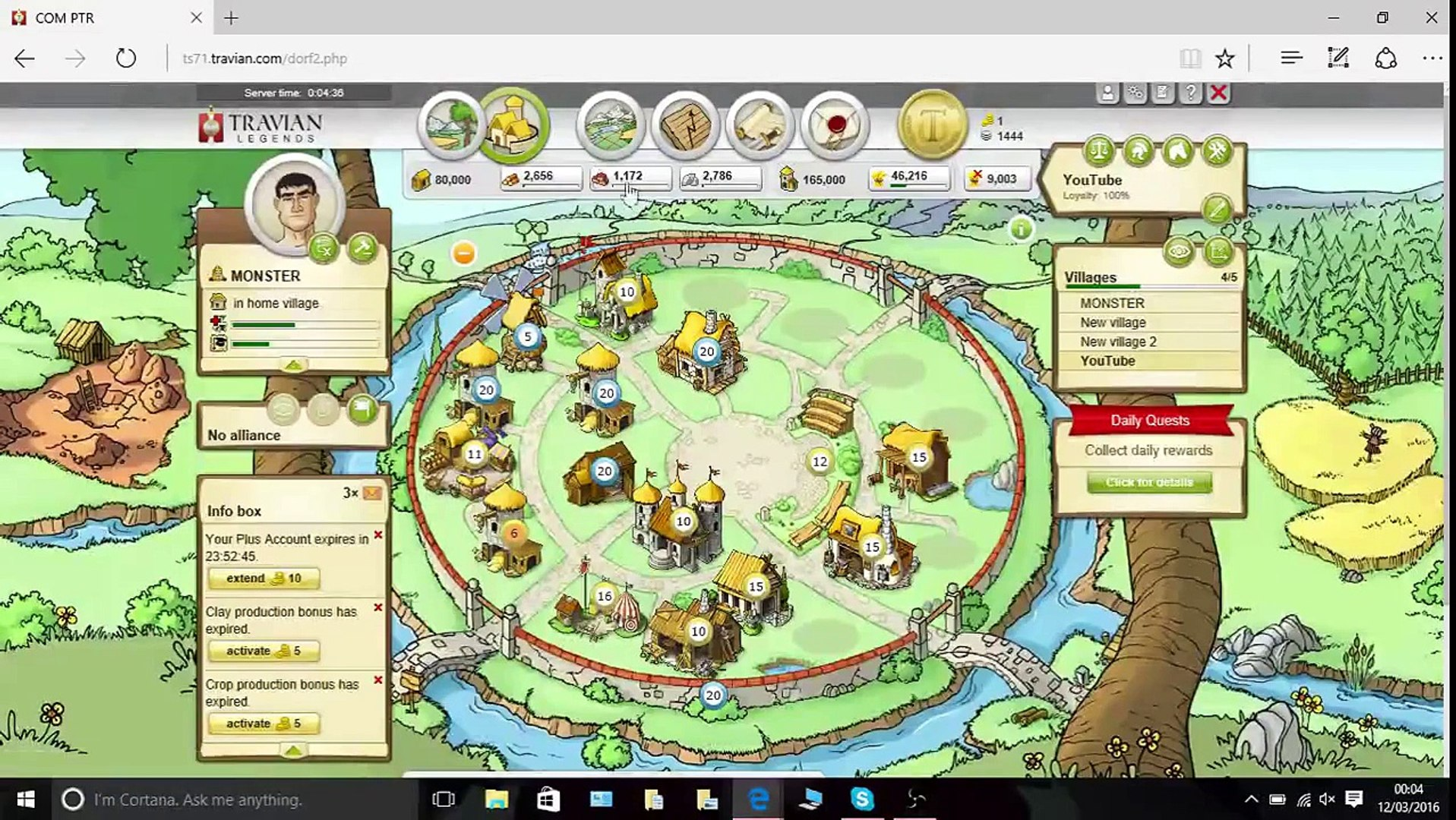 Playing Travian Day 29 ( server ts71 com )