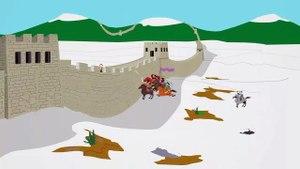 south park damn mongolians city wall (UNCENSORED)