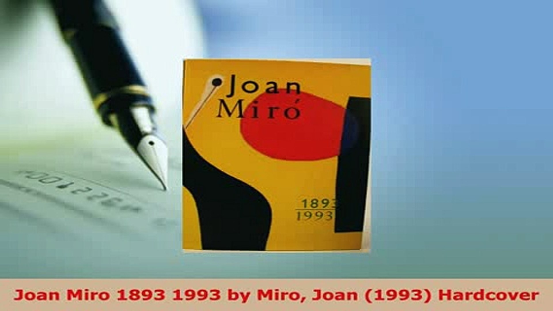 PDF  Joan Miro 1893 1993 by Miro Joan 1993 Hardcover Read Online