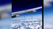Quand ton avion de ligne est escorté par un avion de chasse. Un peu flippant!
