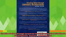 read here  Creating Value Through Corporate Restructuring Case Studies in Bankruptcies Buyouts and