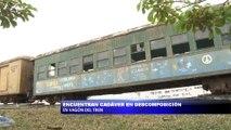 Encuentran cadaver en descomposicion dentro de vagon del tren