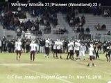 Whitney 27, Pioneer 22 - Whitney vs Pioneer - Whitney Beats Pioneer - thaddeuscox info