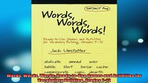 READ book  Words Words Words ReadytoUse Games and Activities for Vocabulary Building Grades 712 Full EBook