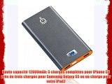 Intocircuit® POWER CASTLE Batterie externe portable 12000mAh chargeur de batterie externe batterie