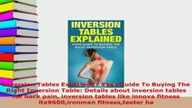 PDF  Inversion Tables Explained  Your Guide To Buying The Right Inversion Table Details about PDF Online