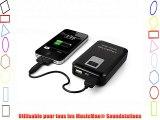 MusicMan - Power Bank - Batterie de secours - 8000 mAh - Noir pour appareil mobile ou appareil
