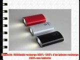 WISHINNO Power Bank 9000mAh batterie externechargeur de batterie mobilebatterie portable de
