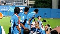 皆さんの応援がないと、あかん! 2010 J2第25節 ゴール裏 難波選手 横浜FC