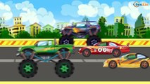 ✔ Monster Truck winter race with Sport Cars / Cartoons Compilation for kids / Extreme Racing ✔