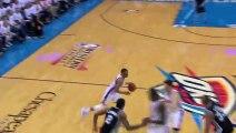 Kevin Durant\'s Awkward Three Spurs vs Thunder Game 6 May 31, 2014 NBA Playoffs 2014