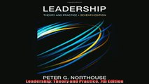 EBOOK ONLINE  Leadership Theory and Practice 7th Edition  DOWNLOAD ONLINE