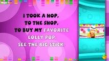 Lolly Pop - Karaoke Version With Lyrics - Cartoon/Animated English Nursery Rhymes For Kids