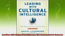 new book  Leading with Cultural Intelligence The Real Secret to Success
