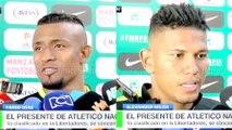 Farid Díaz y Alexander Mejía en la previa del juego entre Nacional y Medellín · Liga Águila 2016-I (fecha 17)