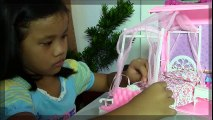 Samantha Glamour Handbag Bed and Suite Playset with Barbie Dolls   HD