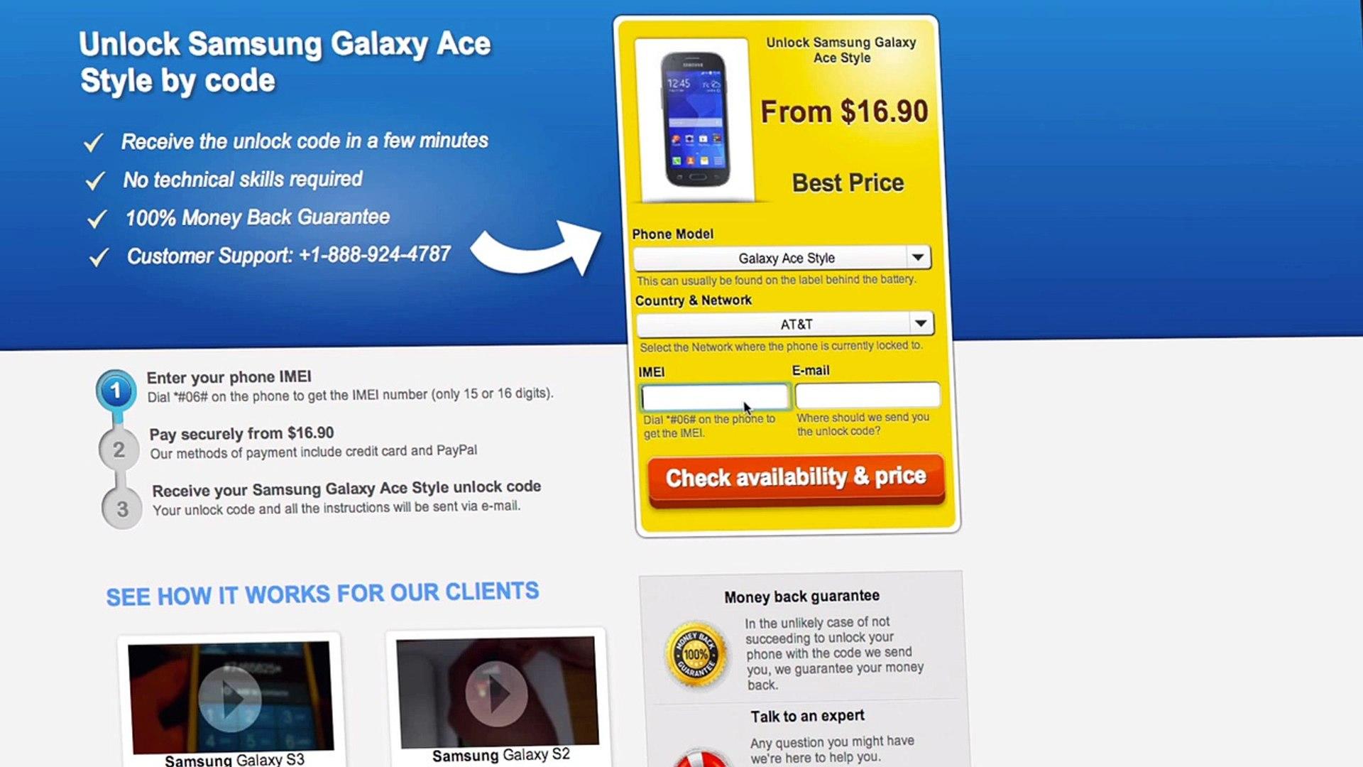 UNLOCK Samsung Galaxy Ace Style - HOW TO UNLOCK YOUR Samsung Galaxy Ace Style