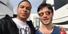 Ezra Miller and Ray Fisher Give a Special Message from Justice League Set