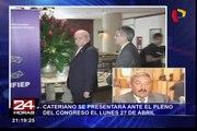 Pedro Cateriano se presentará ante el pleno del Congreso el 27 de abril