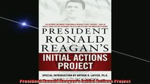 READ book  President Ronald Reagans Initial Actions Project READ ONLINE