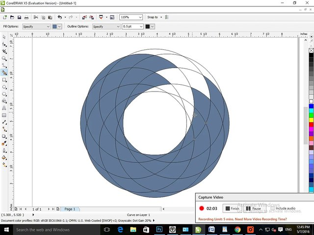 how to make colourful circle (corel Draw) - video dailymotion