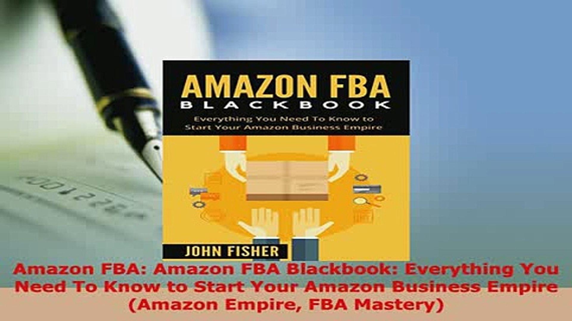 PDF  Amazon FBA Amazon FBA Blackbook Everything You Need To Know to Start Your Amazon Read Online