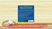 PDF  501 Killer Marketing Tactics to Increase Sales Maximize Profits and Stomp Your Free Books