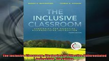 Free Full PDF Downlaod  The Inclusive Classroom Strategies for Effective Differentiated Instruction 4th Edition Full EBook