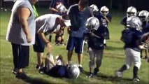 SOME SERIOUS PEE WEE FOOTBALL COLLISIONS