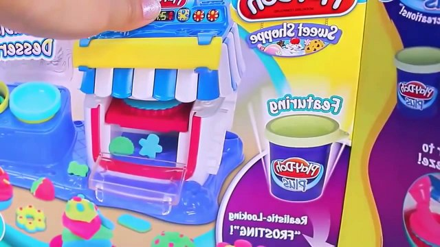 Play doh peppa pig new make ice cream cakes fruit and play dough toys
