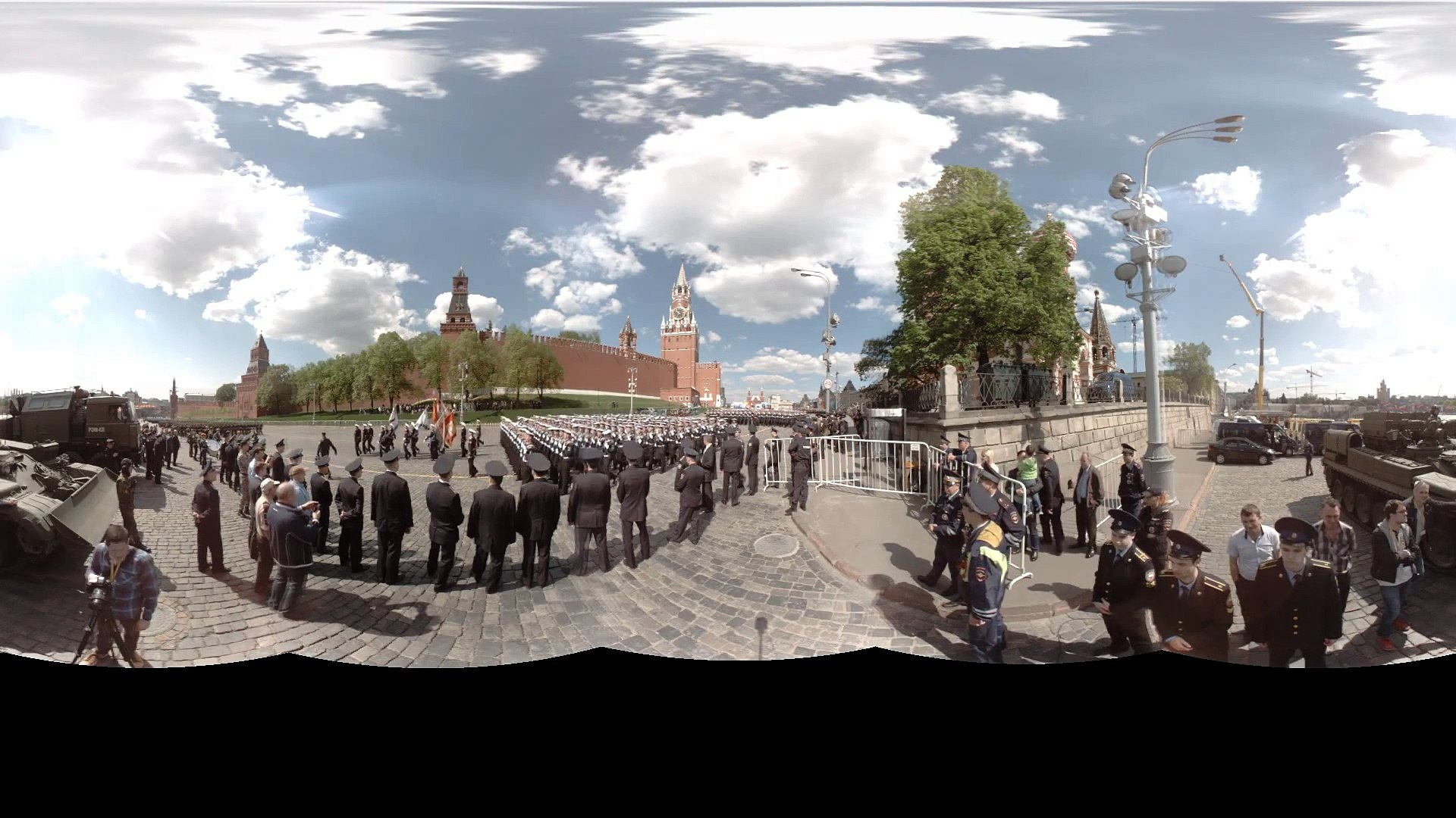360 LIVE in HD׃ Moscow V-Day Parade panorama video 2016 / 360 парад 9 мая в Москве 2016