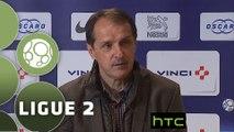 Conférence de presse Paris FC - Valenciennes FC (1-4) : Jean-Luc VASSEUR (PFC) - Faruk HADZIBEGIC (VAFC) - 2015/2016