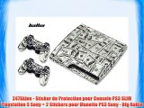 247Skins - Sticker de Protection pour Console PS3 SLIM Playstation 3 Sony + 2 Stickers pour