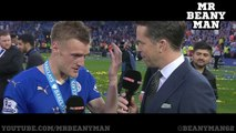 Leicester 3-1 Everton - Jamie Vardy 2nd Post Match Interview - Premier League Champions!!!