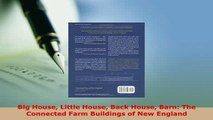 PDF  Big House Little House Back House Barn The Connected Farm Buildings of New England Read Online