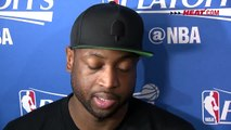 Dwyane Wade Interview at Practice Miami Heat vs Toronto Raptors 2016 NBA Playoffs.