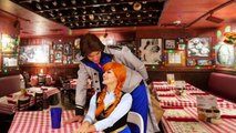 Hans Kidnaps Anna after Hans Betrays Anna in Real Life with Frozen Elsa, Kristoff & Evil Cousin Asle